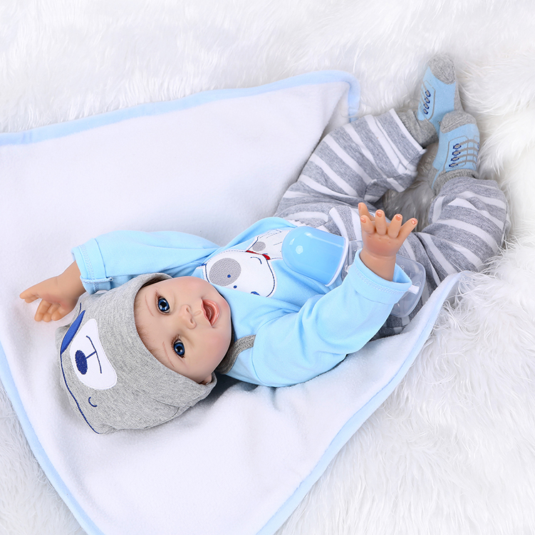 free shipping hot sale lifelike reborn baby doll wholesale newborn baby fashion doll Christamas Gift newborn baby doll