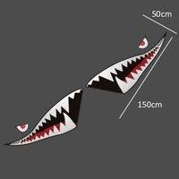 1 пара 150x50 см Водонепроницаемый DIY смешно выполните акула рот зубов винил автомобиля Стикеры наклейка универсальный, подходит для всех авто...