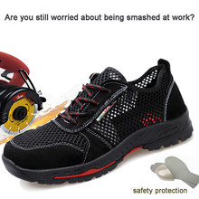 Anti-smashing Shoes Labor Insurance Shoes Up To Standard Steel Head Anti-smashing Anti-piercing Protective Shoes Breathable