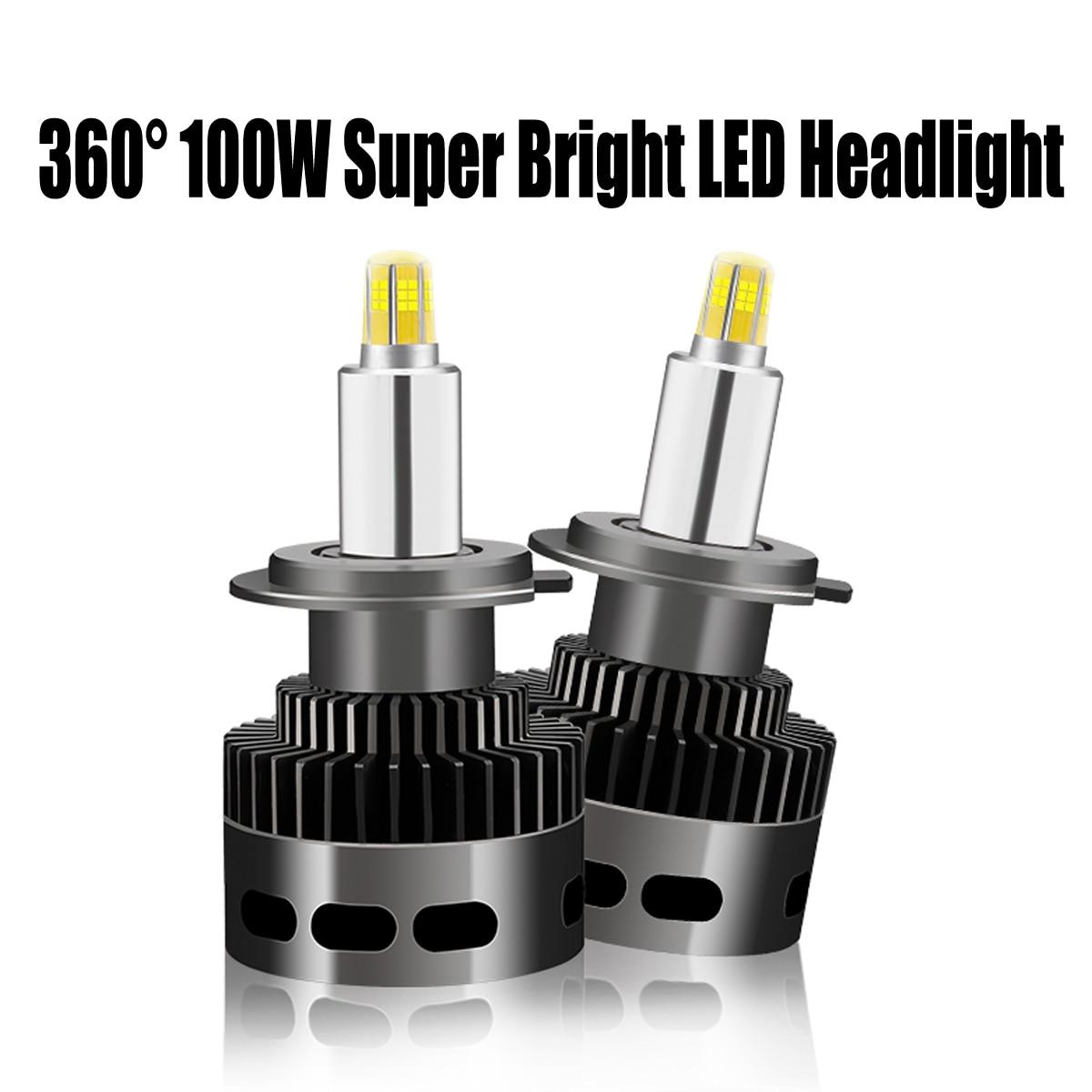 Paire 110 W 14500LM voiture phare LED Bubls Mini Kit phare pour 360 ° 3D stéréo ampoule antibrouillard lumière 6500 k blanc H1 H7 H11 9006