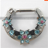 Wholesale New Unique Nose Ring Nose Stud 316L Surgical Steel Septum Clicker Nose Ring Nose Piercing