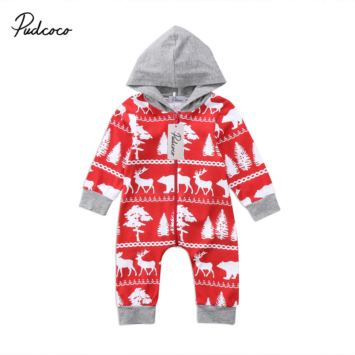 945c86ef1cde Detail Feedback Questions about Christmas Baby Boys Girls Hooded Romper  Jumpsuit Hoodie Clothes Outfits on Aliexpress.com