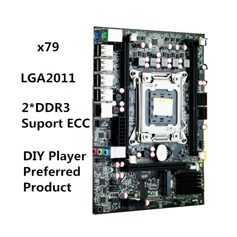 New X79 motherboard desktop computer LGA2011CPU pin supports DDR3 server ECC RAM MSATA new x58 motherboard desktop computer lga1366 cpu pin supports ddr3 16g ecc reg serve ram sata2 0 usb2 0