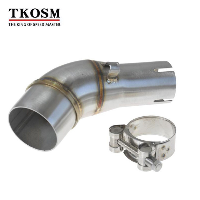 TKOSM Motorcycle Exhaust Middle Pipe Stainless Steel Muffler Link Pipe Section Adapter Pipe for Kawasaki Ninja  sc 1 st  AliExpress.com & TKOSM Motorcycle Exhaust Middle Pipe Stainless Steel Muffler Link ...
