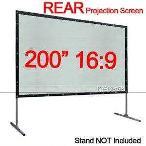 Быстроскладывающаяся занавеска из ПВХ для проекционного экрана, 200 дюйма, 16:9, занавеска с люверсами для HD-проектора, фильмов на открытом воз...