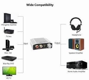 Image 4 - Reiyin 192kHz 24bit الصوت DAC Toslink محوري إلى RCA سماعة محول لجهاز ألعاب PS4 Xbox