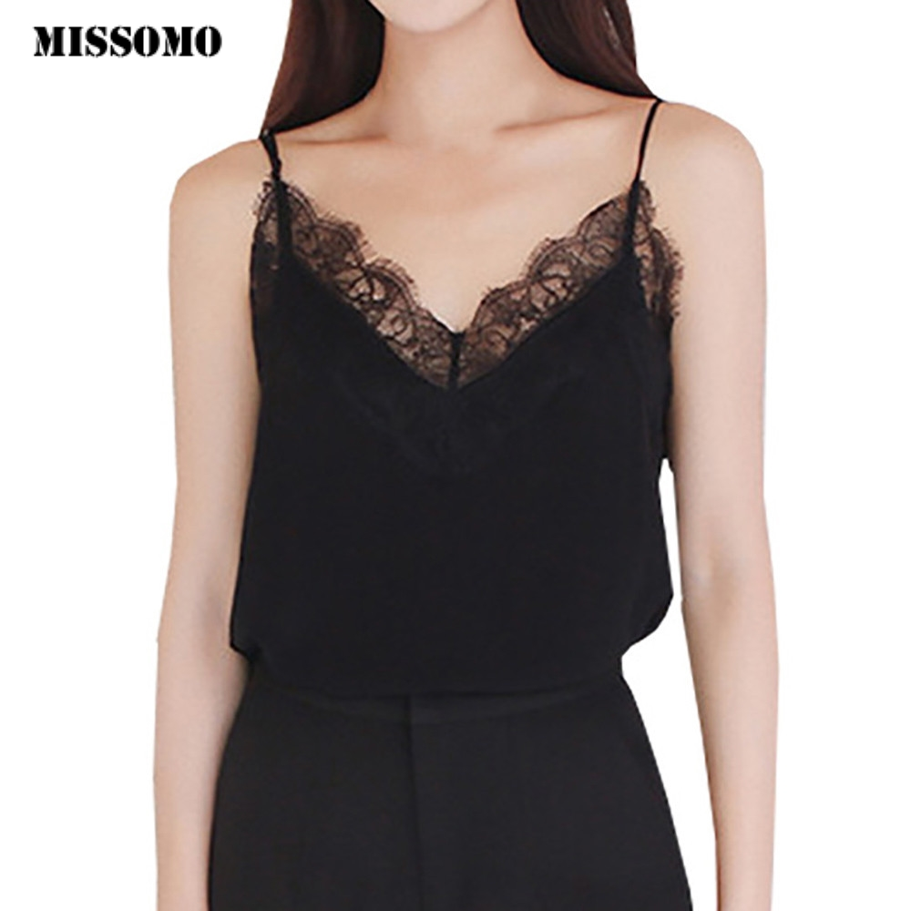 MISSOMO Womens Hollow Lace Mesh Zomer Hemdjes Dames Casual Mouwloos Vest Shirt wit tank Tops
