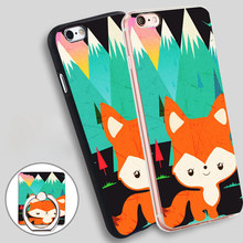Walking The Cute Fox Phone Ring Holder Soft TPU Silicon Case Cover for iPhone 5 SE 5S 6 6S 7 Plus
