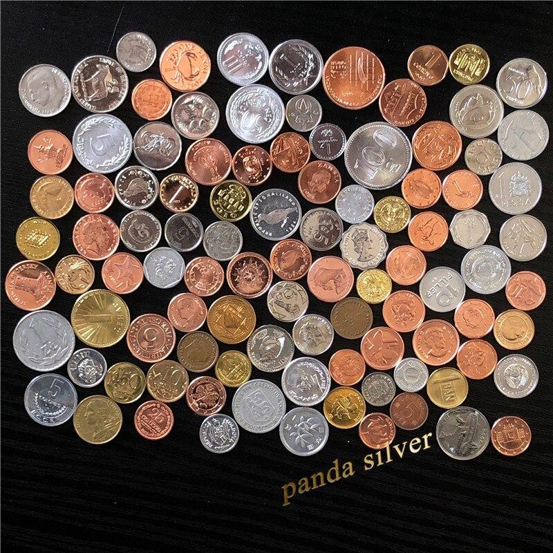 Произвольные монеты 100 из разных стран, НАСТОЯЩИЕ Оригинальные монеты, коллекционные предметы для страны Азии, Африки, Америки, коллекционн...