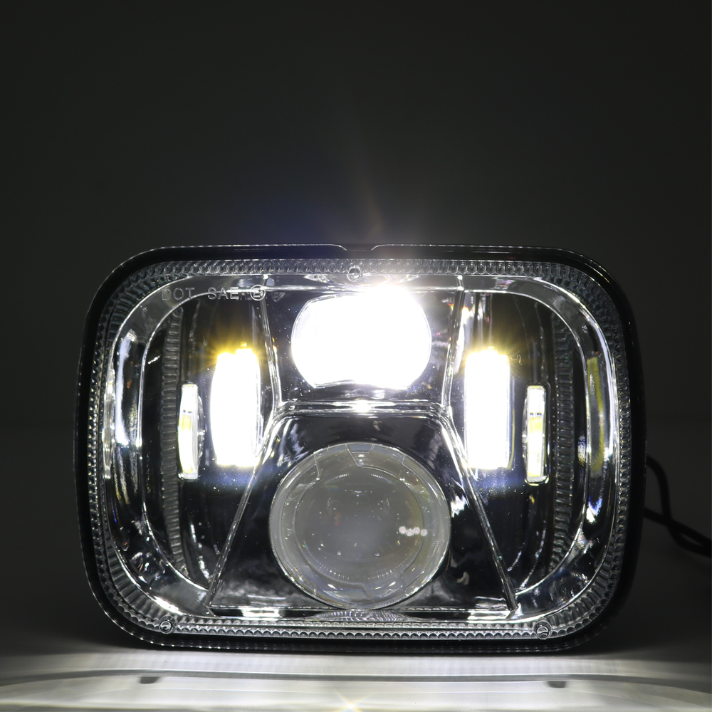5x7 Rectangular led headlight 7 x5 Inch Sealed Beam Headlight with front position light For Peterbilt