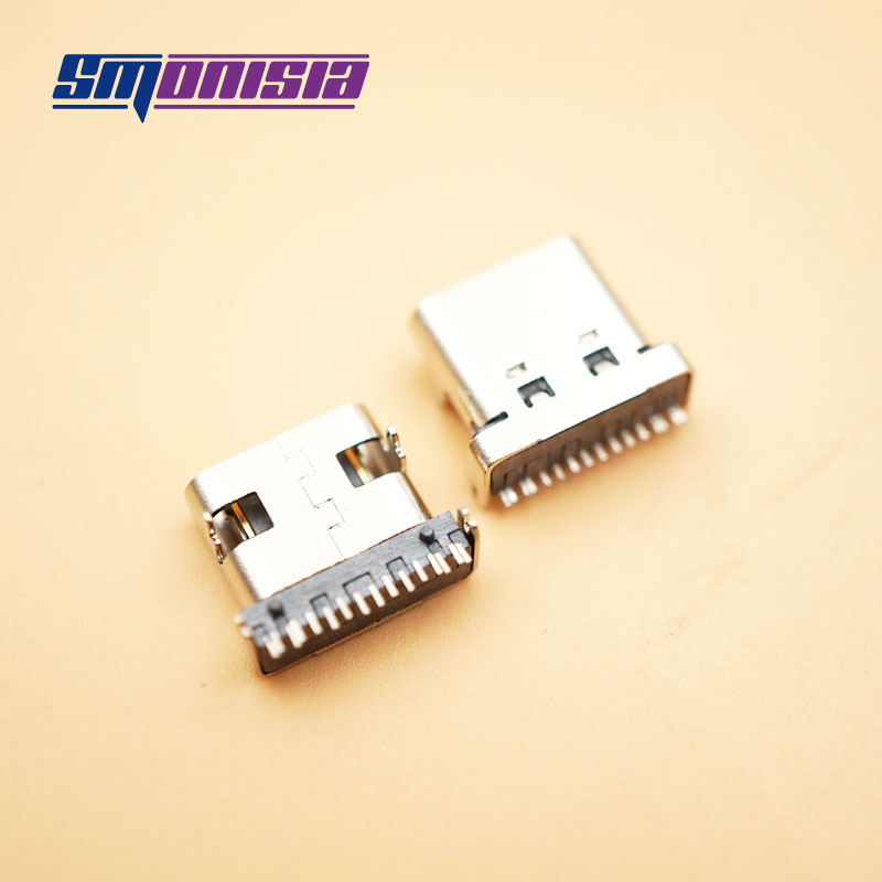 Smonisia 10pcs USB 3.1 Female Socket 4 Pins SMT TYPE-C 90 Degree 16 P Plated Connector