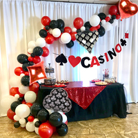 Казино тема Шар АРКА казино украшения вечерние покер Лас-Вегаса украшения юбилейные Взрослые День Рождения украшения для взрослых