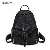 NADALIYA NEW 2017 Crocodile Pattern Fashion Laeather Backpack Women Shoulder bag Women's School Girls Backpack Preppy Backpacks