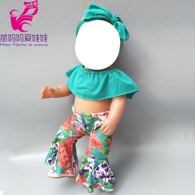"""Кукла комплект одежды для 43 см born bebe кукольный наряд Одежда длинные штаны 18 """"Девочка born Одежда для куклы-младенца брюки девочек"""