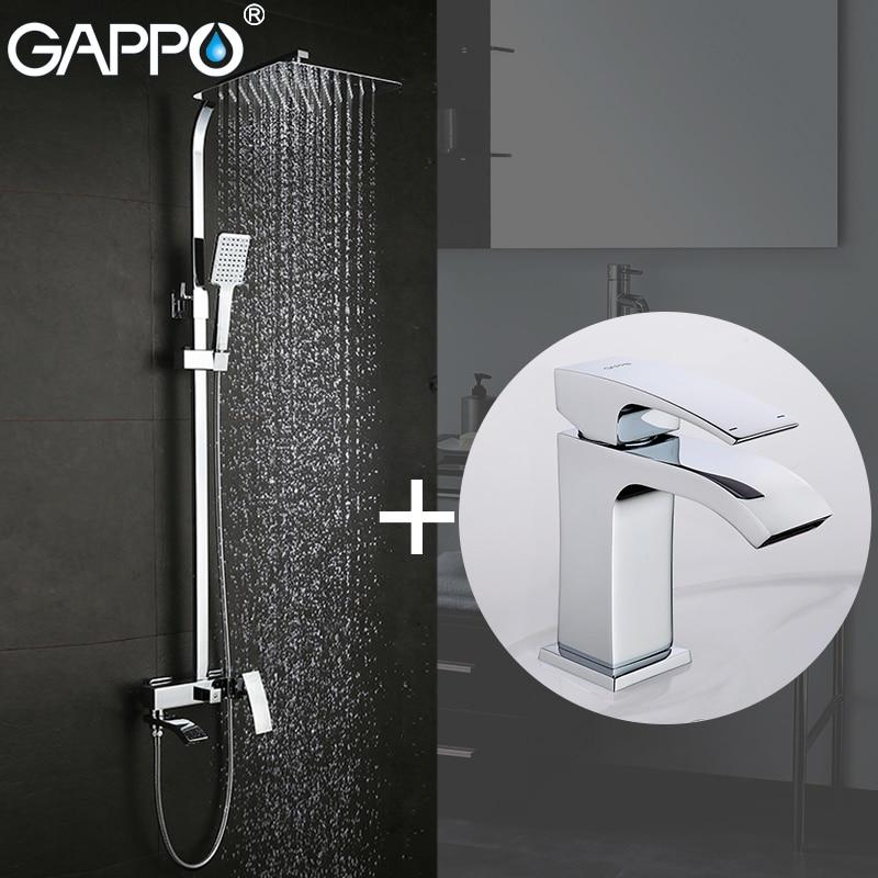GAPPO Chuveiro Torneiras banheira torneira do banheiro torneira misturadora bacia torneiras bacia sink torneira Louças Sanitárias Suite