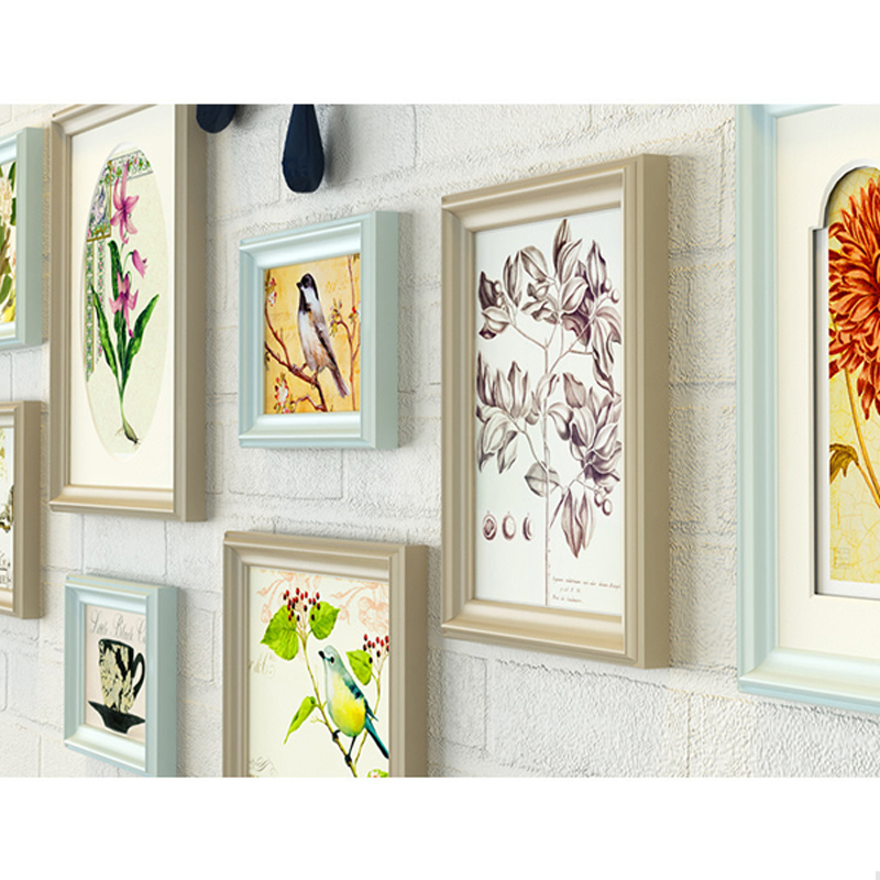 11 teile/los bilderrahmen wand dekoration Europäischen massivholz Mittelmeer fotowand wohnzimmer kreative kombination - 6