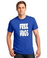 Cotton Jersey Mens Tees Free Hugs T Shirt White Hugging Birthday Gift Attitude Shirt Comfort Soft