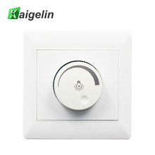 Kaigrlin LED Dimmer Swith 220V -250V 100W LED Knob Dimming Panel 86 Type Concealed Installation Switch Dimmer For LED Lamps(China)