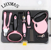 5PCS/Set Pet Grooming Products Dog Grooming Tool Set Comb Brush Leash Nail Clipper Luxury D329