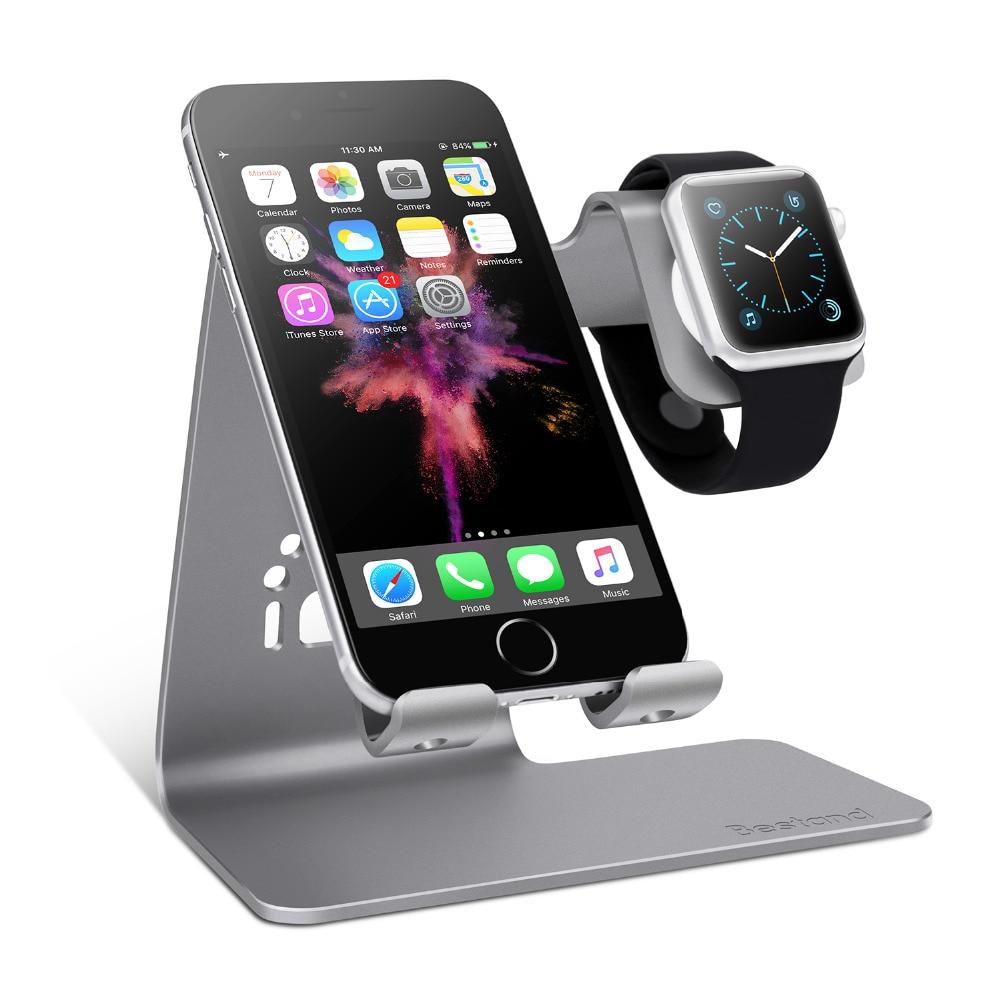 bilder für Spinido 2 in 1 Telefon Uhr Desktop-Tablet Halterung & uhr ladestation halter für apple watch/iphone 7 plus/ipad
