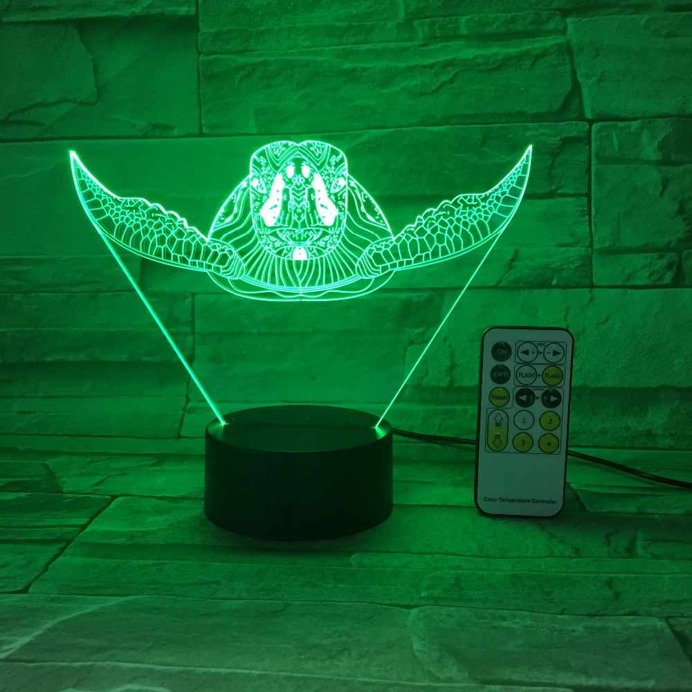 Remote Touch Control Sea Turtle 3D LED Lamp 5V USB Light 7 Colors Change Lava Lamp Novelty Father's Day Gift Free Drop Shipping