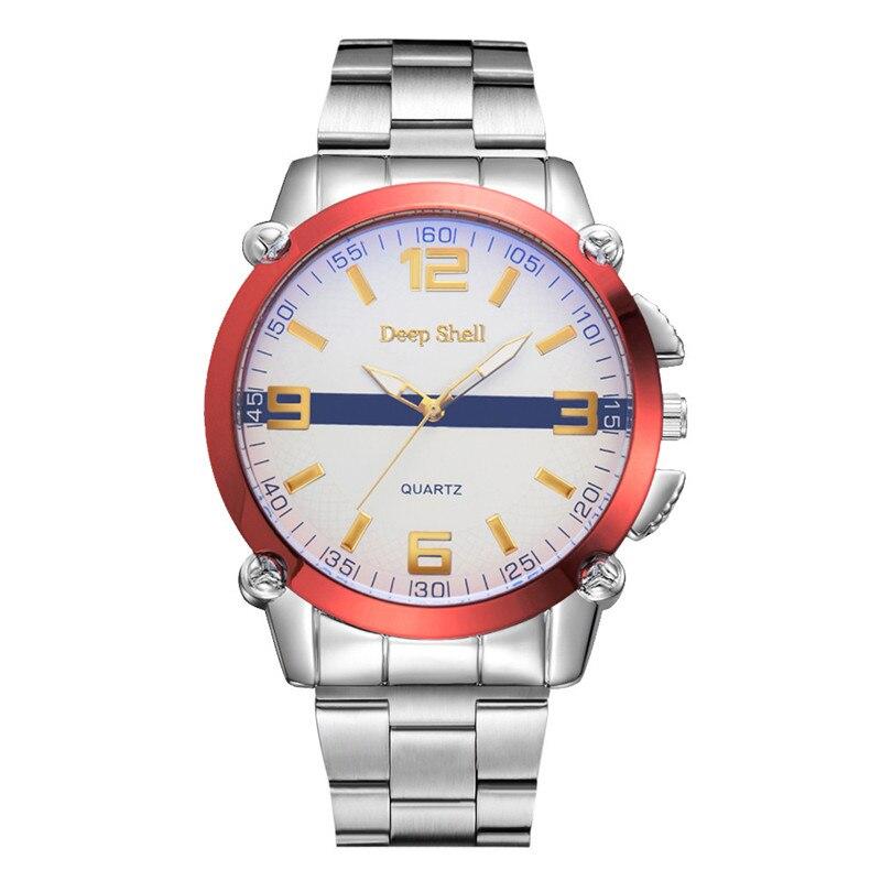 2017 Luxury Fashion Fashion Men Crystal Stainless Steel Analog Quartz Wrist Watch Bracelet blue shope #3005