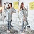 2XL Grande Tamaño Inverno Feminino Pijama Pijama Femme Pigiama Donna Más Tamaño Pijama Conjunto Pijamas de Las Mujeres Pijamas Mujer Pijamas
