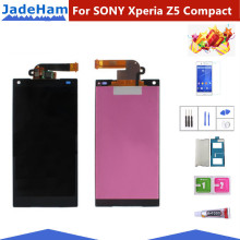 4.6 Original LCD For SONY Xperia Z5 Compact LCD Display Touch Screen with Frame SONY XPERIA Z5 Compact LCD Z5 mini E5823 E5803 аккумулятор для телефона craftmann lis1594erpc для sony xperia z5 compact xa ultra e5823 e5803