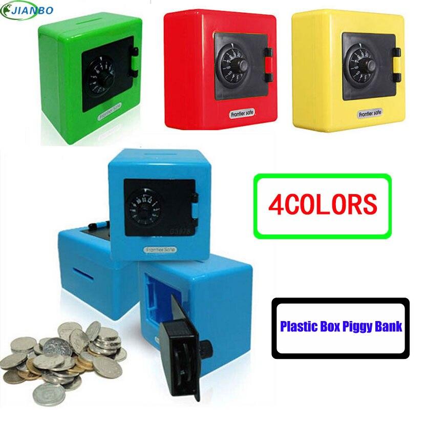 Nuevo Candy Colors Coin Safe Box dinero alcancía seguridad electrónica clave contraseña masticar caja de efectivo depósito máquina de regalos para los niños