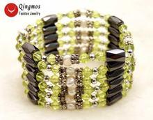 Модное ожерелье qingmos из натурального белого барочного жемчуга