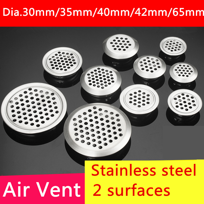 5pcs Dia.30mm/35mm/40mm/42mm/65mm Cabinet Air Vent Louver Mesh Hole Stainless Steel Flat surface or Convex surface free shipping 5pcs 0 35mm bd82hm55 chip size steel mesh in stock