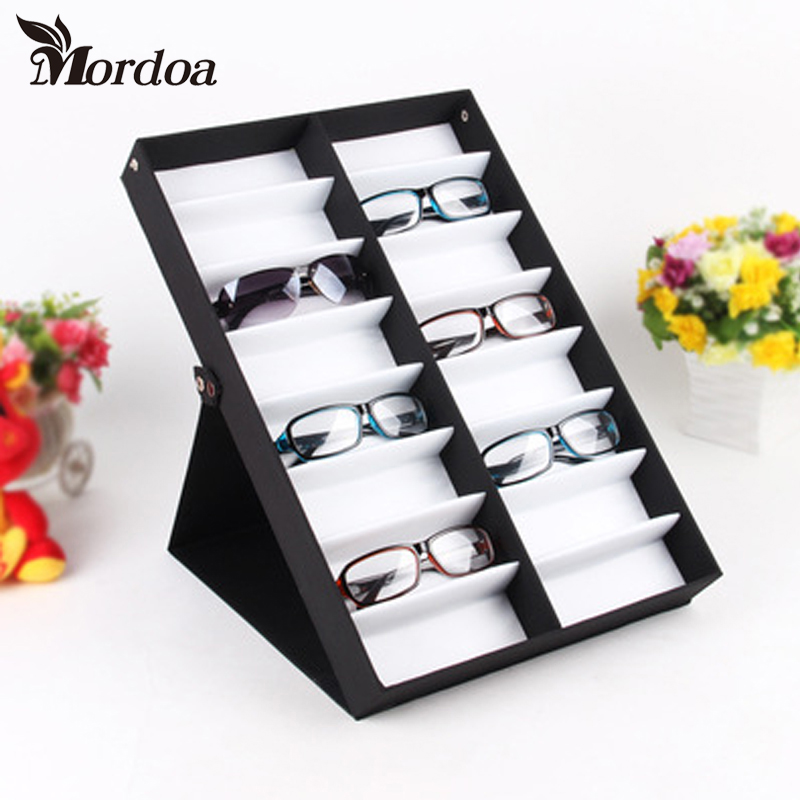 On Sale HQ 16 Grid Glasses Display Box Sunglasses Storage Shelf Display Props 1pcs High Quality Sunglasses Jewelry Display Rack high quality square oversized sunglasses