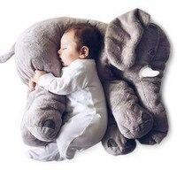 60 سنتيمتر الأزياء الطفل أسلوب الحيوان الفيل الفيل أفخم وسادة وسادة دمية محشوة الاطفال لعبة للأطفال غرفة نوم الديكور لعبة