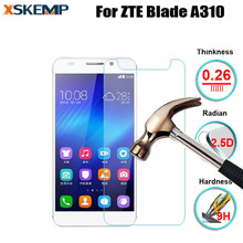 No Fingerprint Tempered Glass For ZTE Blade A310 Premium 9H 0.26MM Glossy Explosion Proof LCD Anti Shatter Screen Protector Film