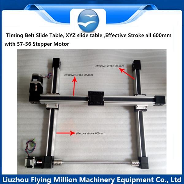 Synchronous belt linear module sliding table/nc guide test slides/glue coating platform manipulator medicine science type blood test slides and marrow slides