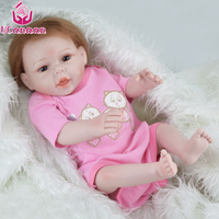 UCanaan Silicone Reborn Baby Dolls 18 Inch Reborn Dolls Babies Alive Soft Toys For Girls Bouquets