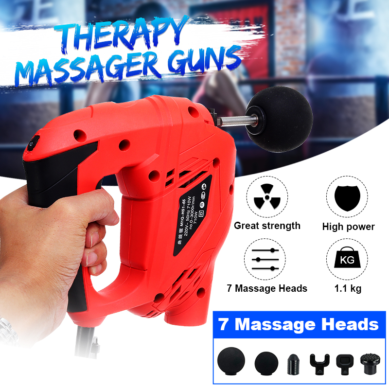 Fitness Deep Muscle Massage Guns Handheld Percussive Vibration Therapy Tissue Massager Electric foot Massage Body Relief Pain