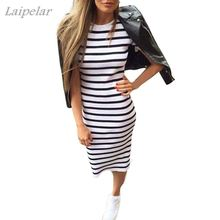 2018 Fashion Women Summer Stripe Long Maxi Dress Boho Beach Sundress Laipelar