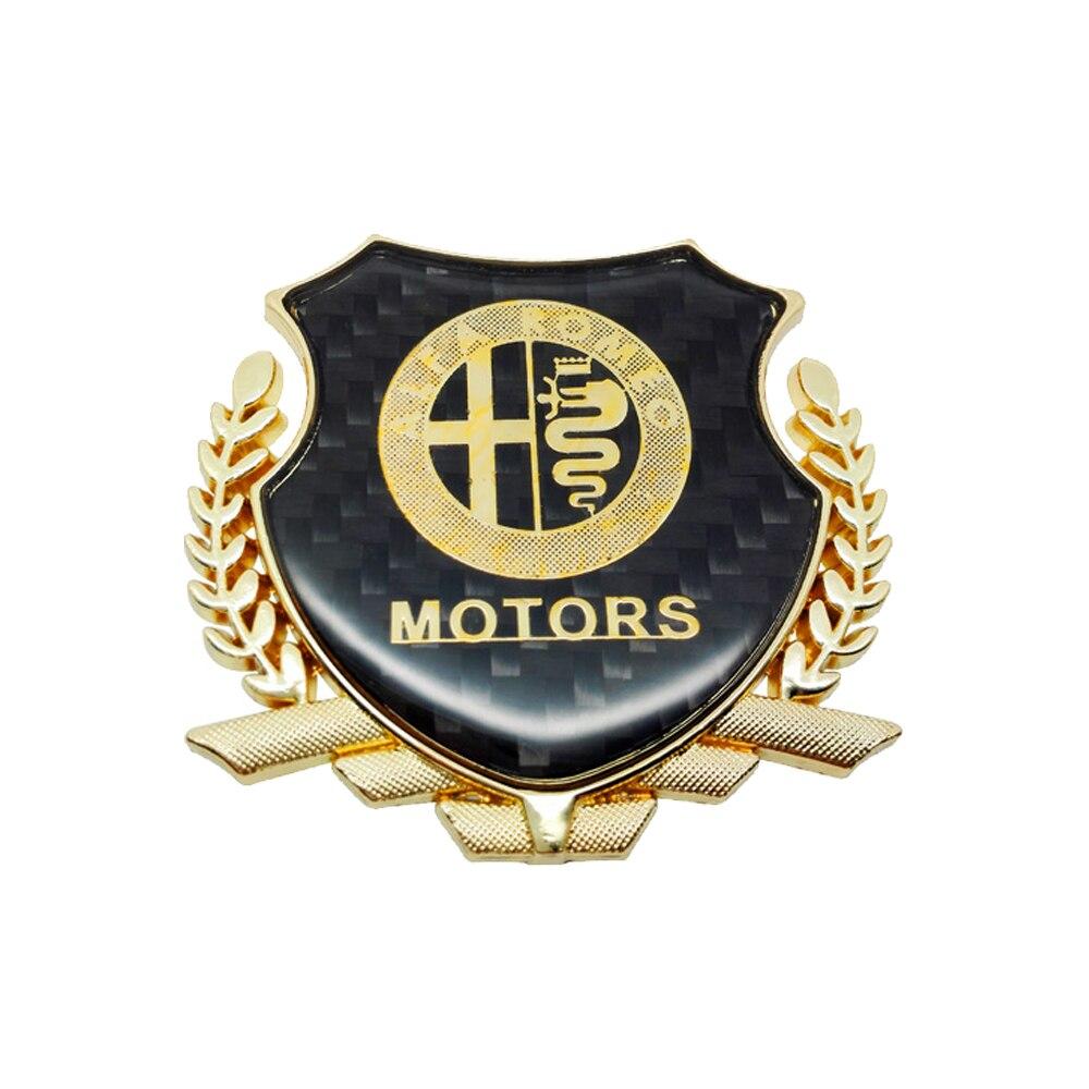 Hot Sale Sticker Decals Car Logo For Alfa Romeo Giulietta Giulia Gloria Spider Stelvio Brera Mito Disco Volante Gt Sz 4c 8c Tz3 147 155