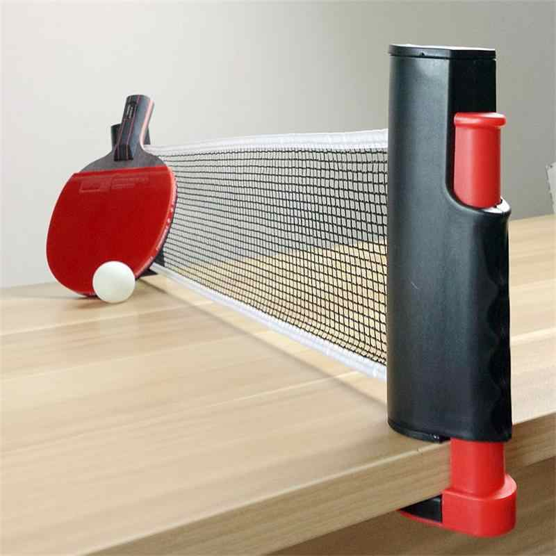 Leo Table Tennis Net Retractable and Adjustable To Most Table Sizes Portable Retractable Table Tennis Table Net Rack Replace Kit