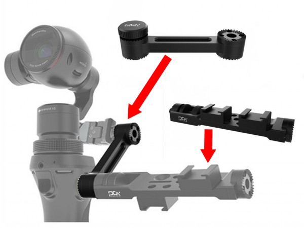 2Pcs/Lot Hot RC Accessories Pro Version Universal Frame Mount & Extended Arm for DJI OSMO