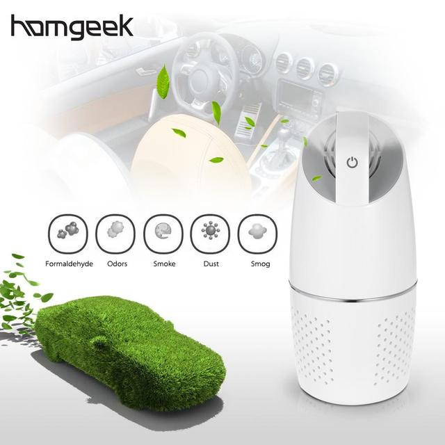 Homgeek Car Air Purifier Professional Car Purifier 8W HEPA filter