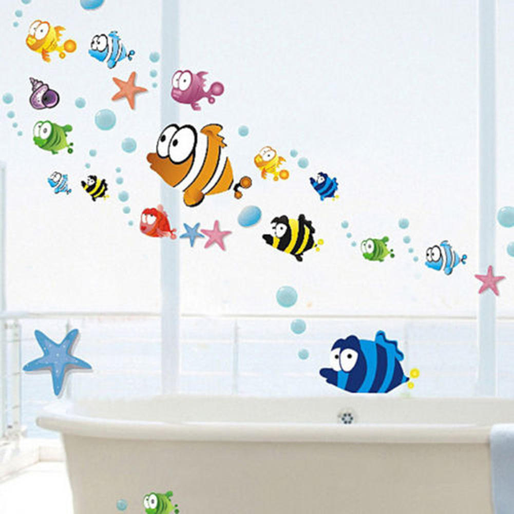 tropical encantador de dibujos animados peces burbuja de mar ocano mundo hgs lavadero del beb room