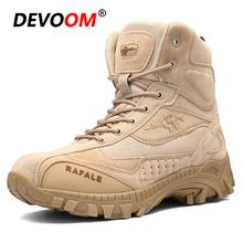 2018 nowe zimowe buty wojskowe taktyczne człowiek żołnierz buty wojskowe Trekking buty górskie męskie buty wojskowe pustynne odkryte trampki tanie tanio Buty turystyczne Dla dorosłych Skórzane RUBBER 201852375 Cotton Fabric Średnie (b m) Profesjonalne Spring2018 Masaż
