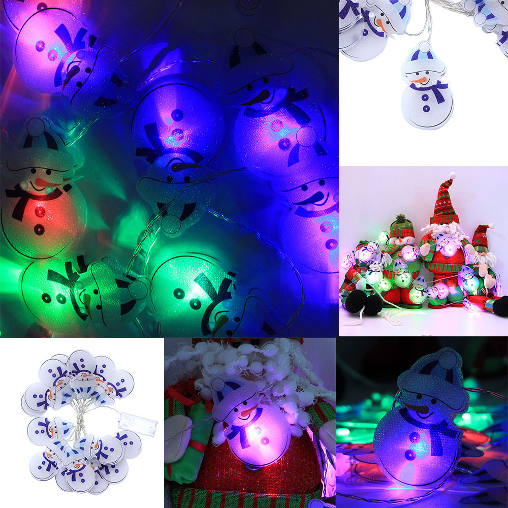 Happy Christmas Snowman Decoration Lights 3.0m 16 LED Lights Party Home Decor Outdoor Indoor Xmas Lamp navidad 2018