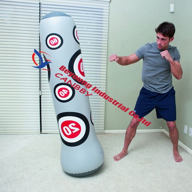 Bestway 63 Up Boxing Bag Inflatable Punching Exercise Training Tower Bop Toys For