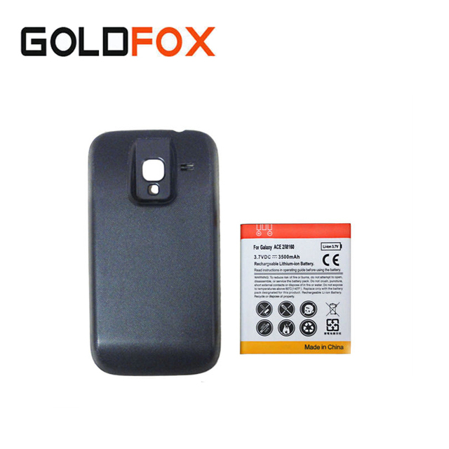 3500mAh Replacement Phone Batteria For Samsung Galaxy Ace 2 i8610 GT-i8160 Extended Thicker Backup Battery+Black Back Cover Case