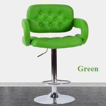Telecom business hall lifting rotation stool Mobile phone shop chair green color