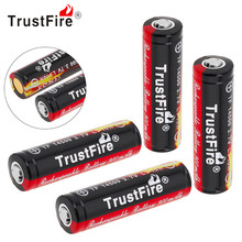 ФОТО 4pcs trustfire 3.7v 900mah 14500 rechargeable li-ion battery with protected pcb for led flashlight headlamp