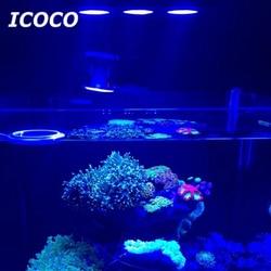 ICOCO HA CONDOTTO LA Luce Dell'acquario 30 W Acquario HA CONDOTTO LA Luce Interna di Acqua Salata Illuminazione con Touch Control per la Barriera Corallina Serbatoio di Pesce